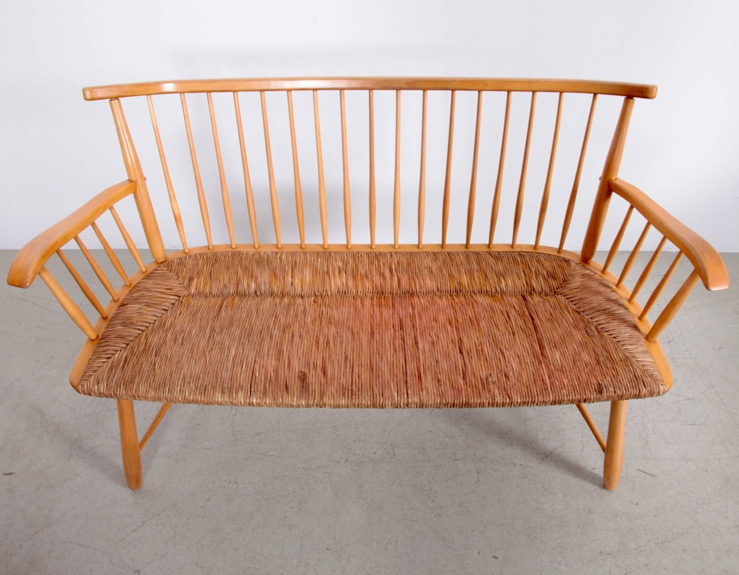 Merveilleux German Arno Lambrecht Dining Set Of Table, Three Chairs And A Bench For WK  Mobel
