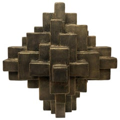"""""""Arno"""" Mixed-Media Table Top Sculpture in Black Gold Finish by Dan Schneiger"""