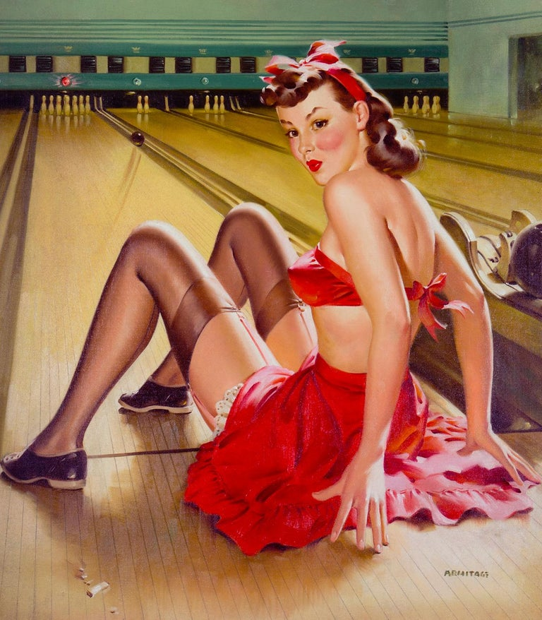 Off Her Pins - Other Art Style Painting by Arnold Armitage