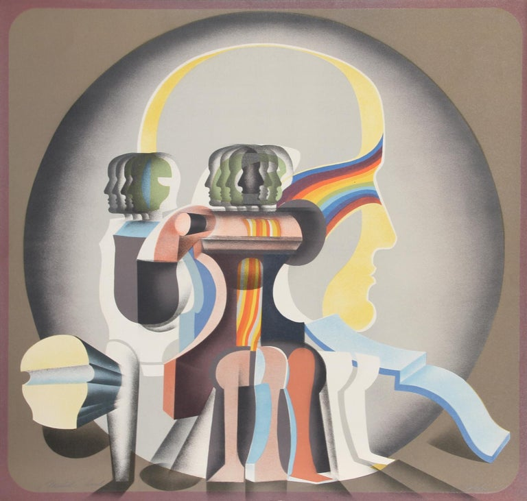 Artist: Arnold Belkin, Canadian/Mexican (1930 - 1992) Title: Sin Titulo (Cabeza) Year: 1971 Medium: Lithograph, Signed in Pencil Edition: Dedicated Proof Size: 25 in. x 26 in. (63.5 cm x 66.04 cm)