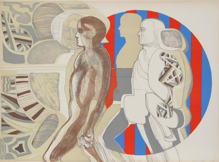 Artist: Arnold Belkin, Mexican (1930 - 1992) Title: Sin Titulo  Year: 1969 Medium: Lithograph, signed and numbered in pencil Edition: 100  Size: 22.5 in. x 30 in. (57.15 cm x 76.2 cm)