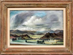 Colorado Landscape (Vintage 1930s Modernist Painting near Colorado Springs, CO)
