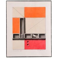 Arnold Hoffman Jr. '1915-1991' Mixed-Media Drawing