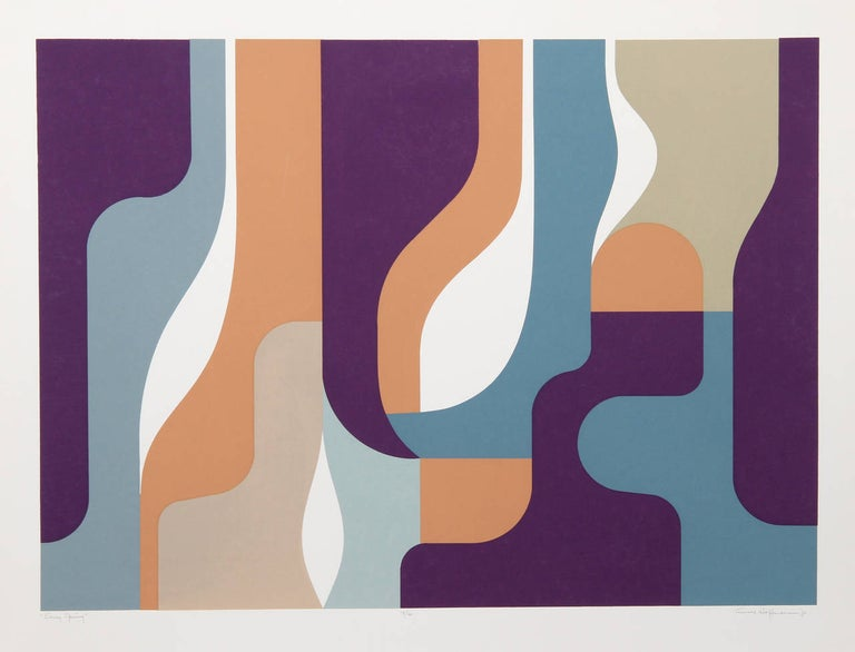 Arnold Hoffmann Abstract Print - Early Spring