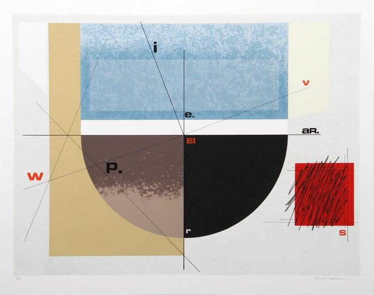 Arnold Hoffmann Abstract Print - Paris Review