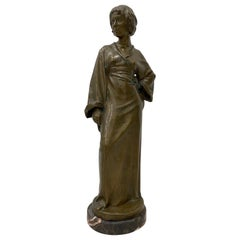 Arnold Katsch Art Nouveau Figurative Bronze Sculpture, circa 1912