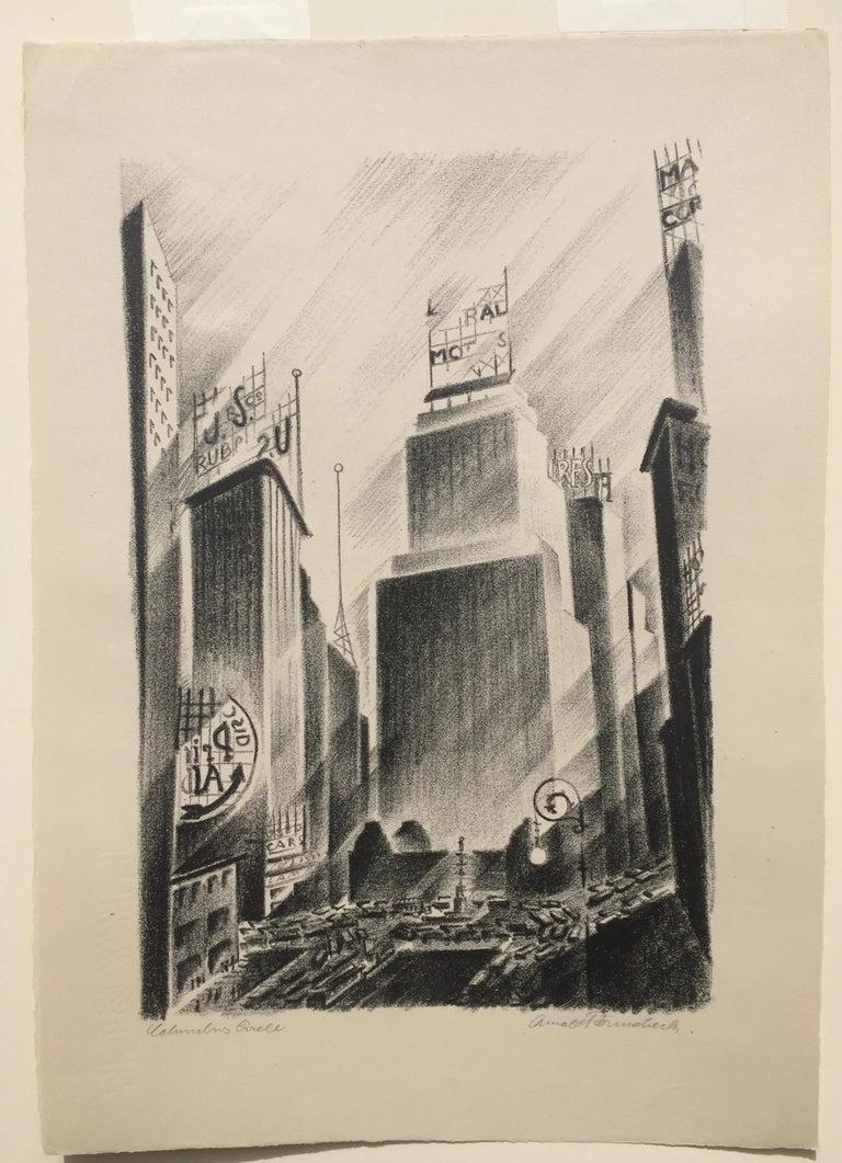Columbus Circle - Print by Arnold Ronnebeck