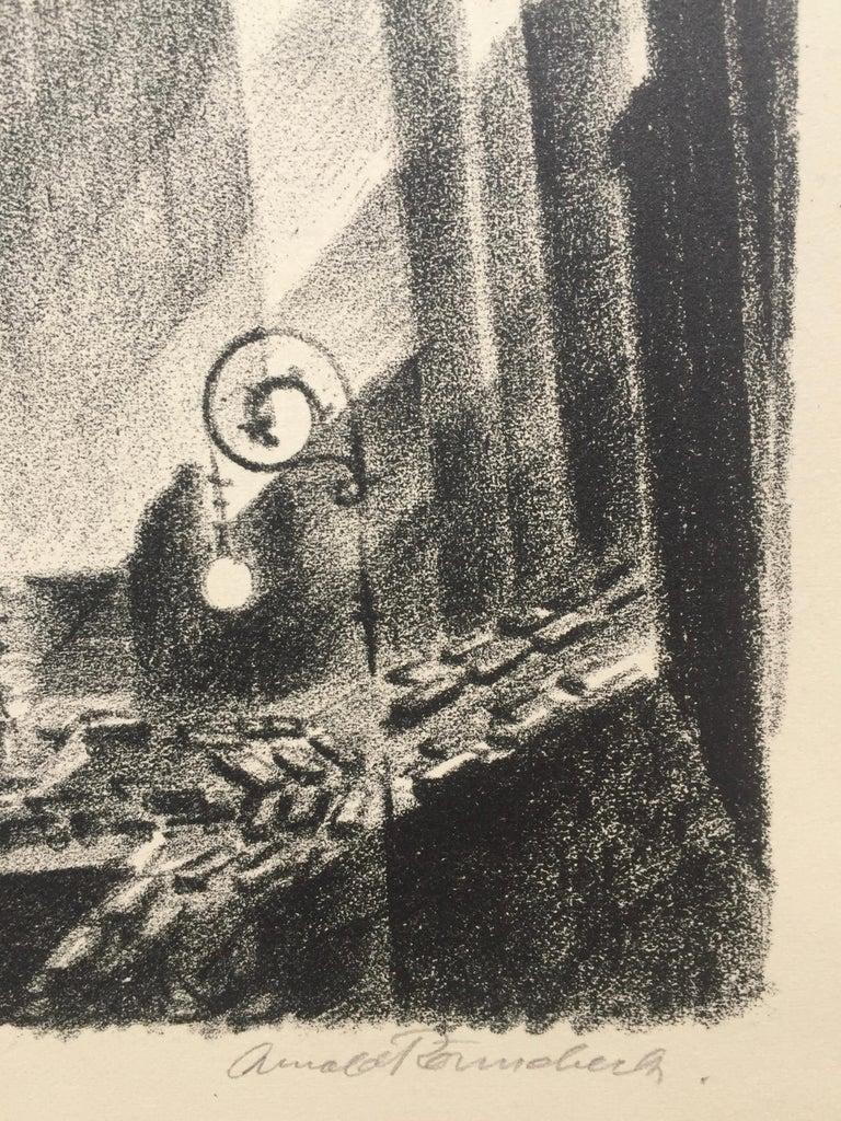Columbus Circle - American Modern Print by Arnold Ronnebeck