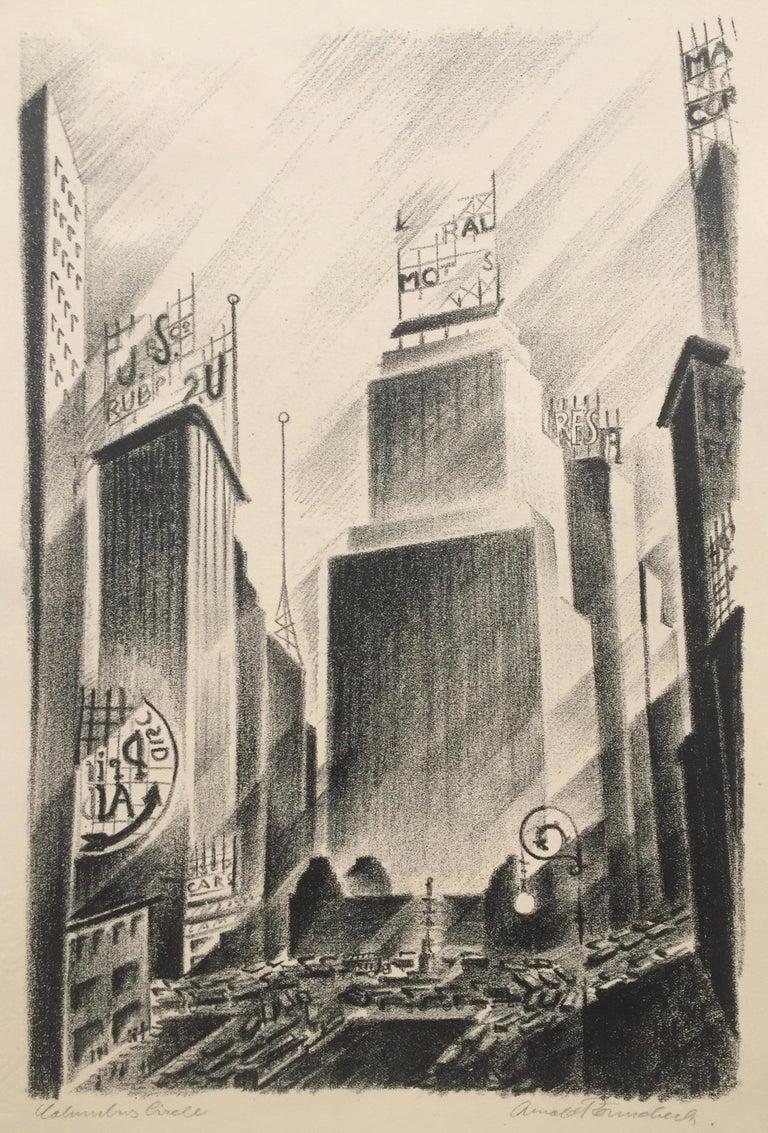 Arnold Ronnebeck Print - Columbus Circle