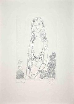 Anna B.B. - Original Etching by Arnoldo Ciarrocchi - 1970