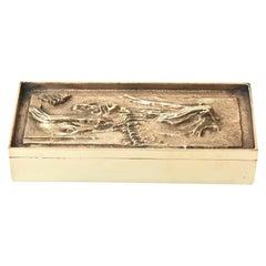 Arnoldo Pomodoro Bronze 2-Part Sculptural Italian Box Vintage