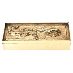 Arnoldo Pomodoro Bronze Sculptural Italian Box Vintage