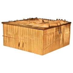 Arnoldo Pomodoro Gilt Bronze Box