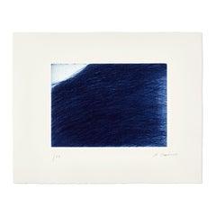 Mar Azul, Etching, Contemporary Art, Abstraction, Art Informel