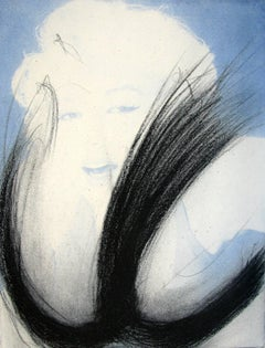 Marilyn Monroe – Blau, Etching, Contemporary Art, Abstract vs Figurative Art
