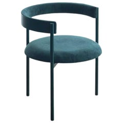 ARO Contemporary Chair in Steel and Velvet Upholstery by Ries