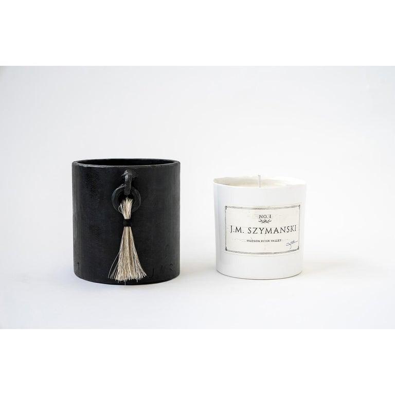 Candle no. 1 - Set J.M. Szymanski d. 2020 blackened iron, waxed finish, porcelain, soy wax, organic essential oils, horsehair Size: 4