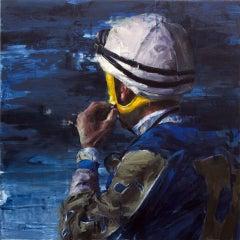 """Francisco the Two"" original oil jockey portrait on canvas by Aron Belka"