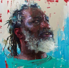 """""""George"""", contemporary original oil painting by Aron Belka"""
