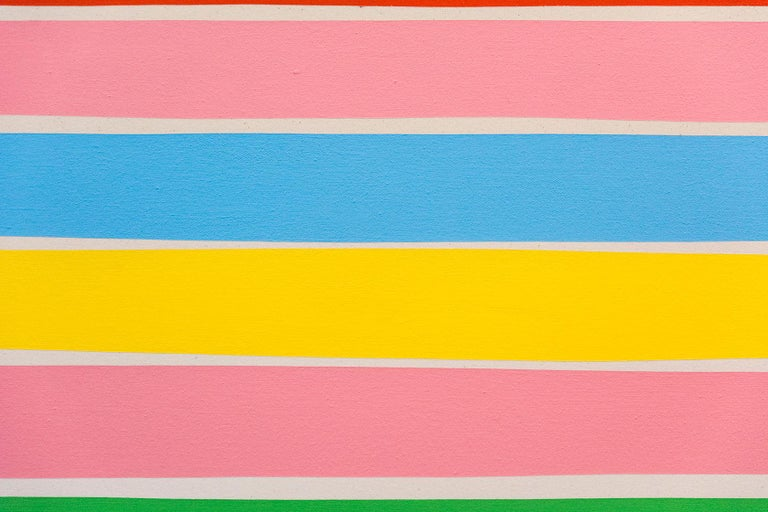 13 Colorlines B - Painting by Aron Hill