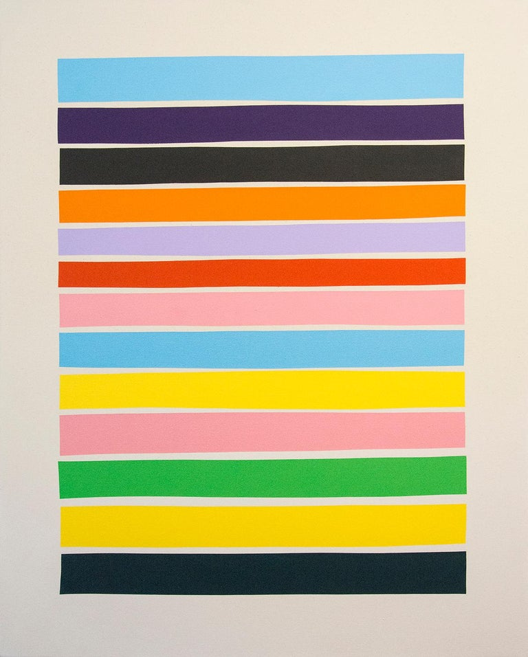 Aron Hill Abstract Painting - 13 Colorlines B