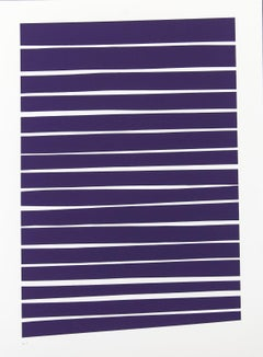16 Dark Violet Lines - bold, vibrant, saturated, contemporary, acrylic on paper