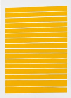 16 Yellow Lines - bold, vibrant, saturated, contemporary, acrylic on paper