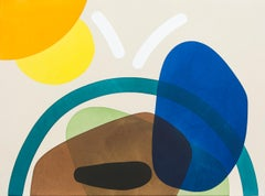Dirt and Grass with 2 Suns - smooth, coloured, geometric forms