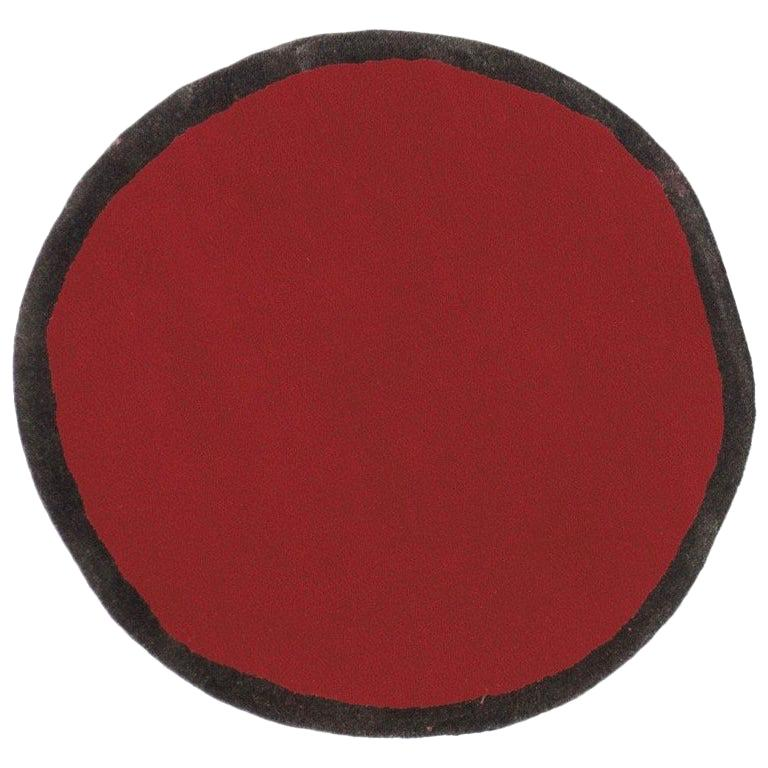 Aros Collection Round 1 Hand-Tufted Small Wool Rug by Nani Marquina in Stock