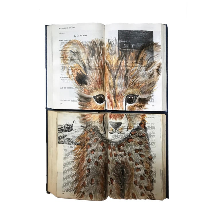 Baby Animal Water Color Book Painting For Walls For Sale 1