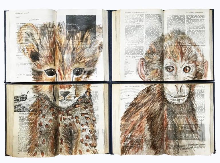 Arozarena De La Fuente Animal Painting - Baby Animal Water Color Book Painting For Walls