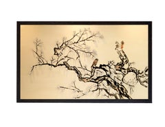 Beautiful Tree Painting With Birds Ideal For Neutral Spaces