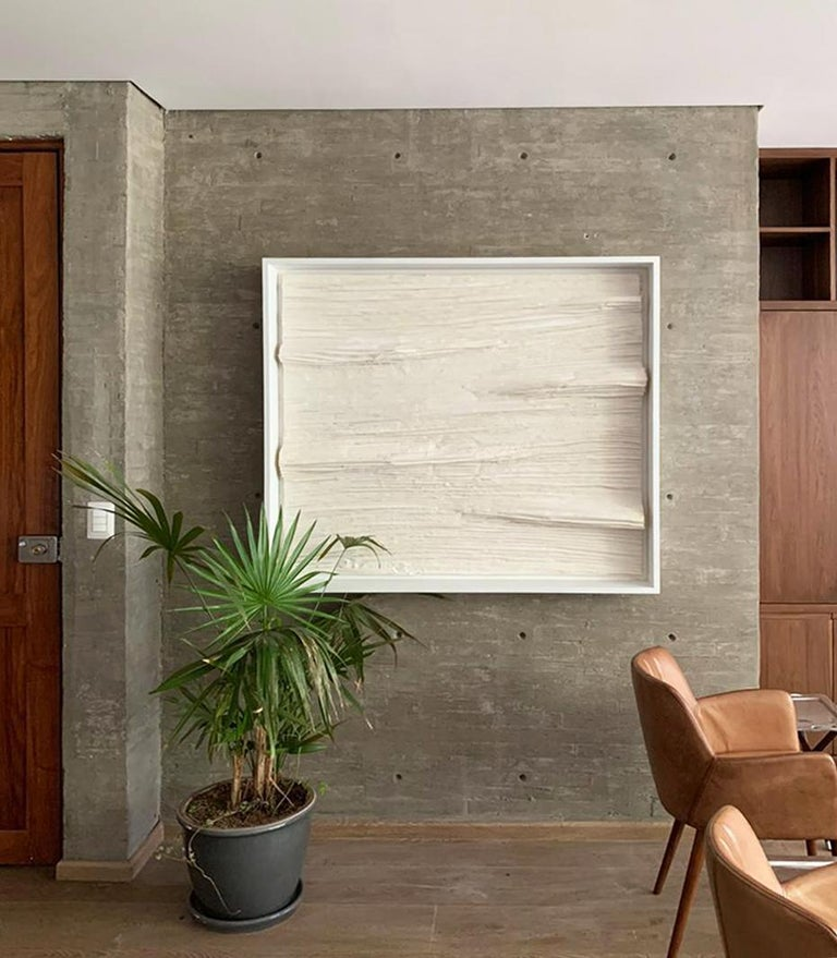 Arozarena De La Fuente Abstract Painting - Elegant White Abstract Art for Modern Spaces