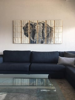 Elephant Painting done on Unique Book Canvass