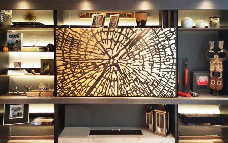 Abstract Golden Tree Formations - 3d sculpture for walls For Sale 1