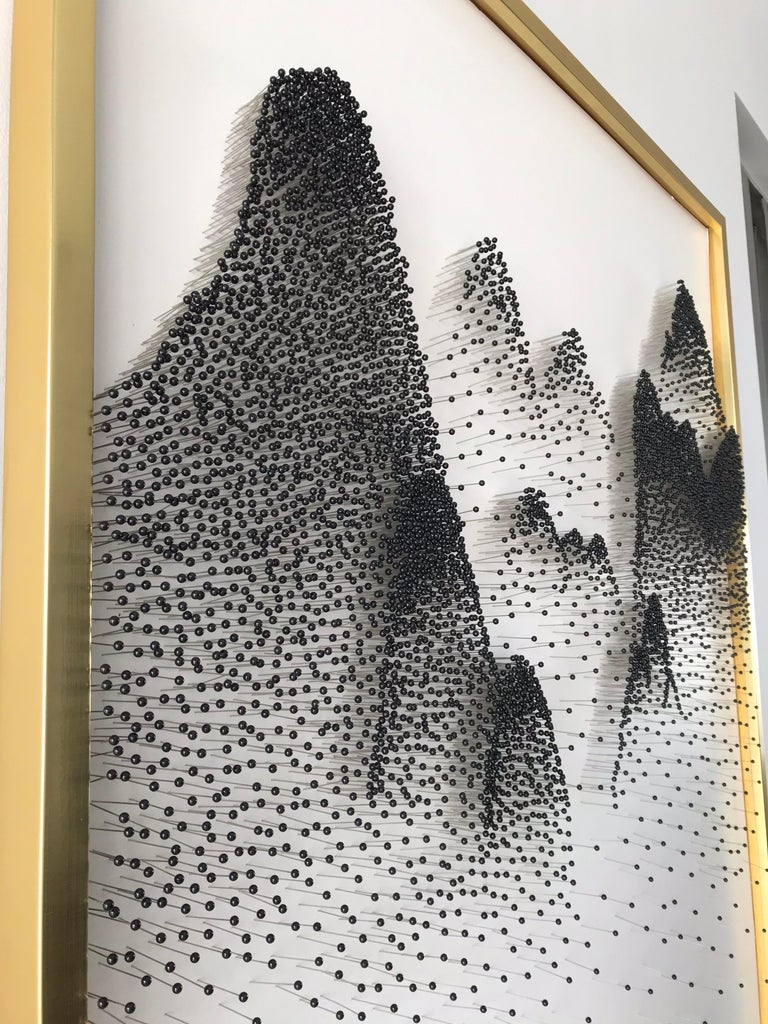 Beautiful Abstract Mountains on Unique Canvass For Sale 7