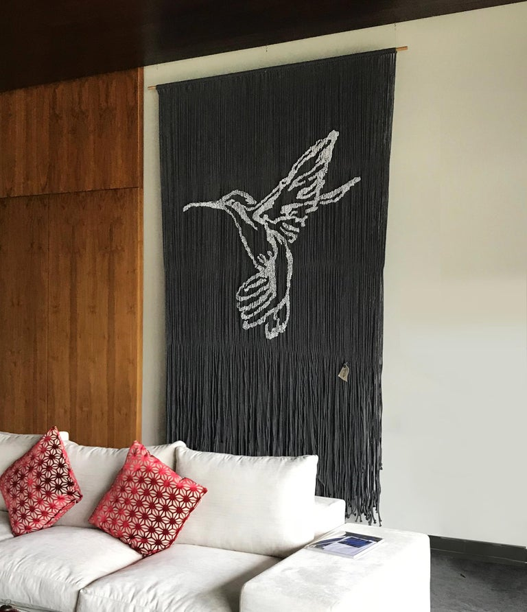 Elegant Handmade Hanging Hummingbird with Outstanding Color Combinations For Sale 2