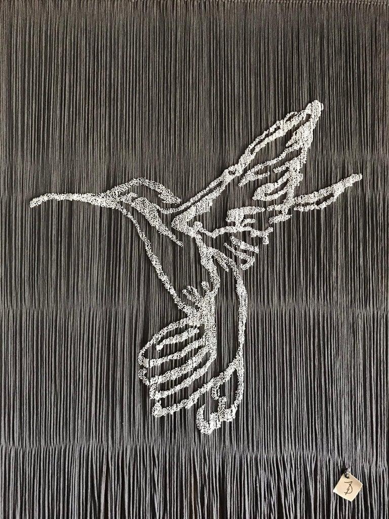 Arozarena De La Fuente Animal Painting -  Elegant Handmade Hanging Hummingbird with Outstanding Color Combinations