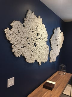 """Coral Ocean"" Hand Made-Unique Sculpture for Walls. Pulverized Minerals and Sand"