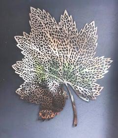 Detailed Elegant Metal Wall Art Leaf Sculpture