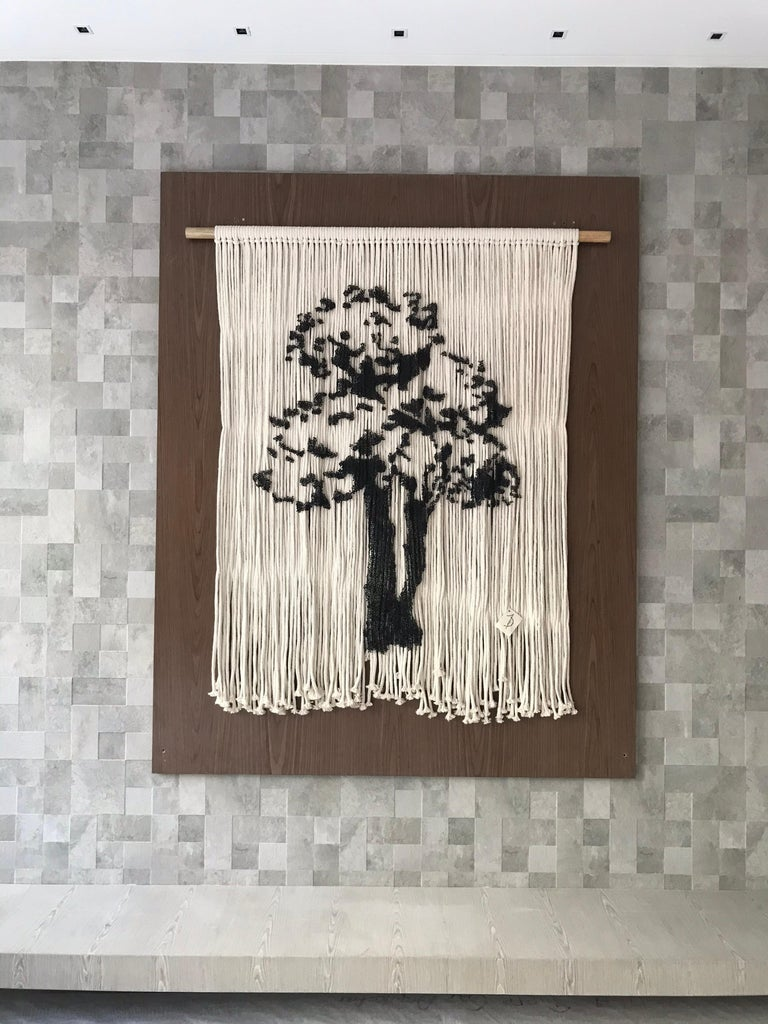 Elegant Hanging Tree Handmade With Pins For Sale 1