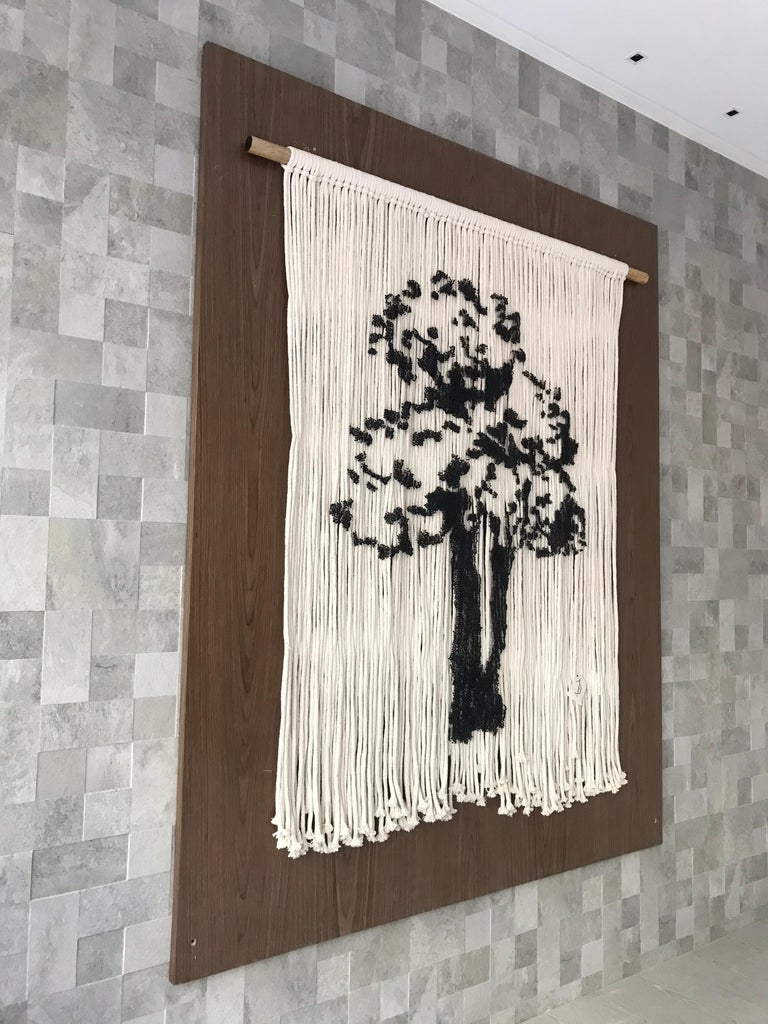 Elegant Hanging Tree Handmade With Pins For Sale 3