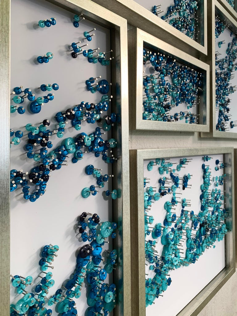 Elegant Water Splash Collage made with Buttons and Nails For Sale 2