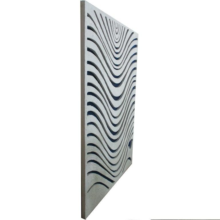 WAVES. Inspired in nature, sand textures, contemporary art.  - Sculpture by Arozarena De La Fuente