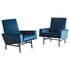 Arp for Steiner Midcentury Lounge Chairs in Mohair, Pair