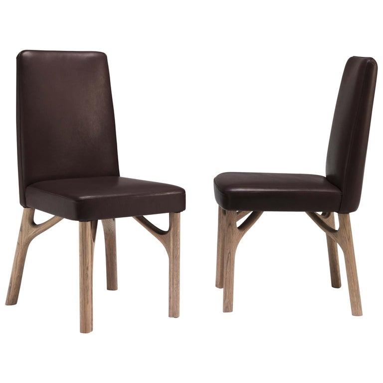 Arpeggio/S Dining Chair in Leather For Sale
