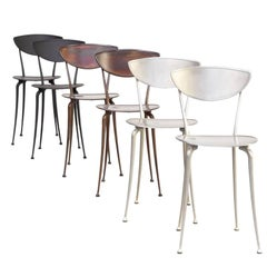 Arper Aluminium Dining Chairs Set/6