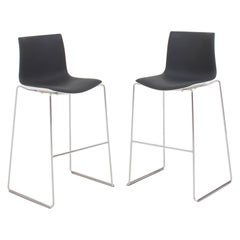 Arper by Antti Kotilainen Aava Grey and White Bar Stools, Set of 2, 2013