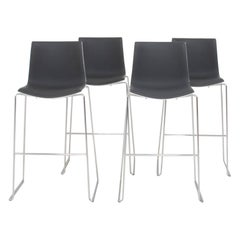 Arper by Antti Kotilainen Aava Grey and White Bar Stools, Set of 4, 2013