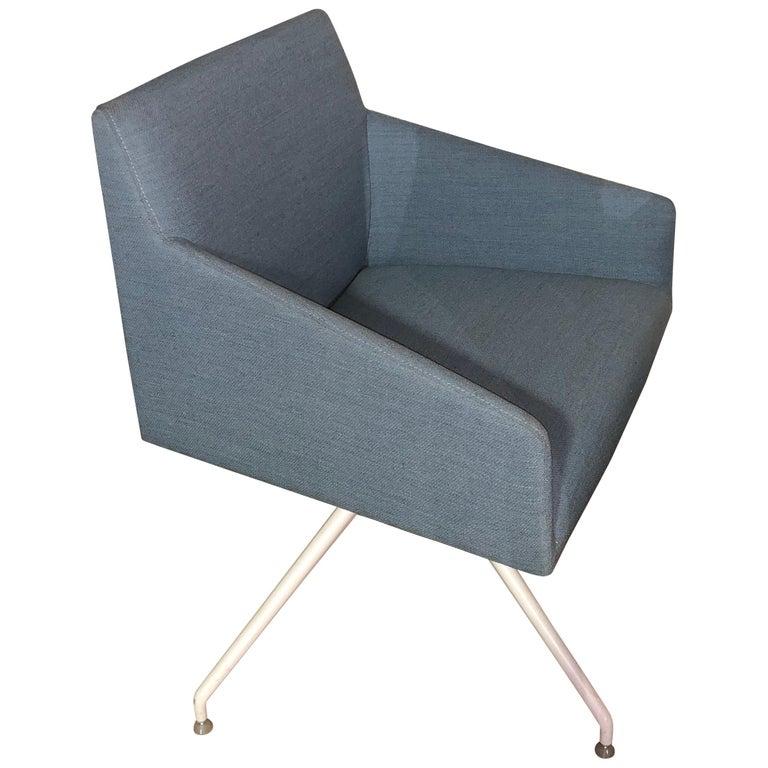 Arper Saari Blue Armchair For Sale